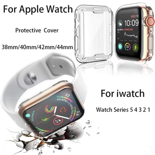 Vỏ Bảo Vệ Màn Hình Đồng Hồ Thông Minh Apple Watch 6 se 5 4 3 2 1 Kích Thước 38mm/40mm 42mm/44mm