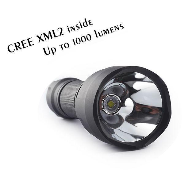 Đèn pin ánh sáng trắng convoy C8 AK47 7135 * 8 3 / 5 chế độ