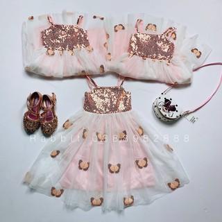 Váy 2 dây bướm hồng - RABBITSHOP