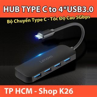 Hub Type C Chia 4 Cổng USB3.0 Lenovo C611