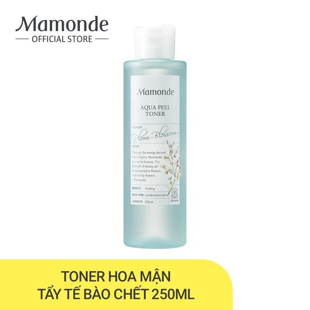 Nước cân bằng dưỡng ẩm loại bỏ t/b chết, bụi bẩn trên da Mamonde Aqua Peel Toner 250ml