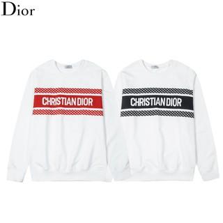Tide thương hiệu hàng đầu D-màu hit màu cá tính sọc in áo len cổ tròn cổ tròn