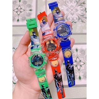 [RẺ VÔ ĐỊCH] Đồng hồ điện tử trẻ em Người nhện, người dơi, Ben10 có đèn và nhạc rẻ nhất HCM
