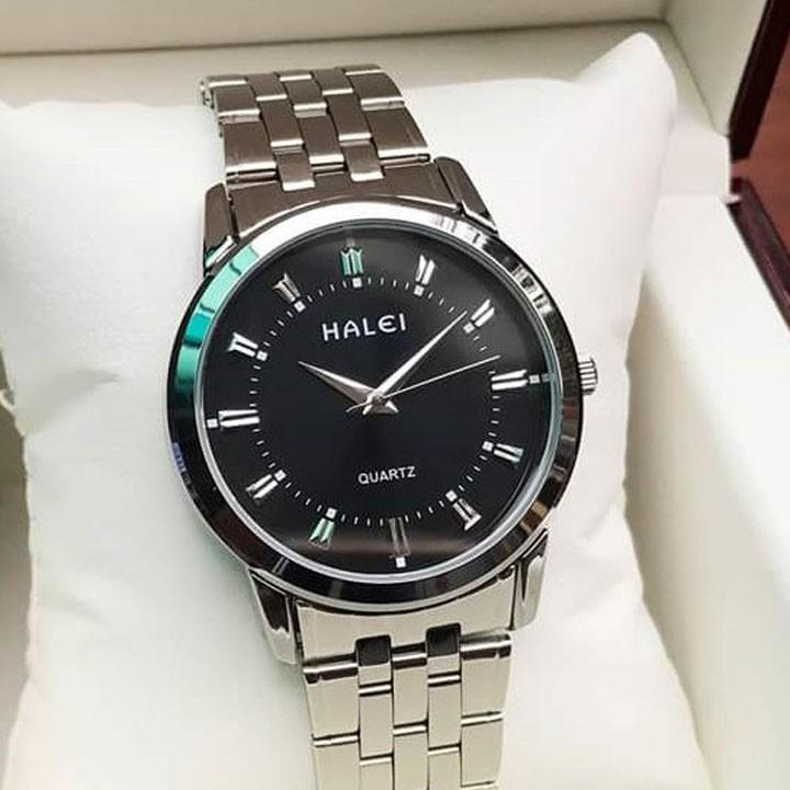 Đồng hồ nam Halei HL168 dây hợp kim chống nước - Phụ kiện thời trang- đồng hồ nam sang trọng, thanh lịch (BIG SALE) Đồng hồ nam Halei HL168 dây hợp kim chống nước