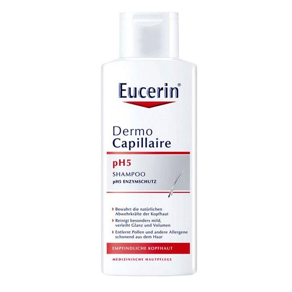 Dầu Gội Cân Bằng PH Cho Tóc Dermocapillaire PH5 Mild Shampoo - Eucerin