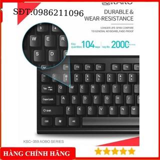 HOT Bàn phím máy tính KAKU KSC-359phím bấm êm ái chống nước dễ vệ sinh thiết kế tinh tế đơn giản thích hợp với các loai thumbnail