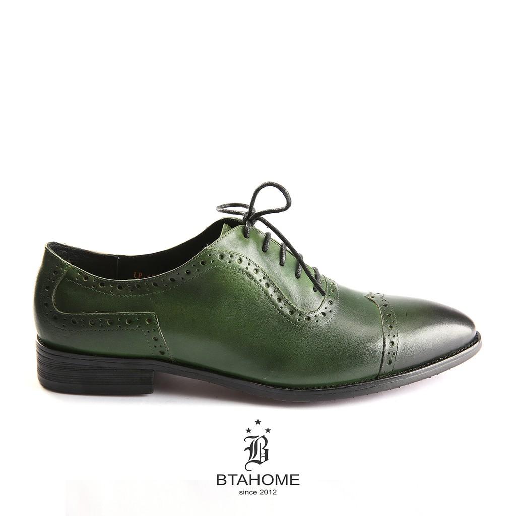 Giày Oxford BTAHOME màu xanh lá, dành cho người mệnh Mộc LX 220-4