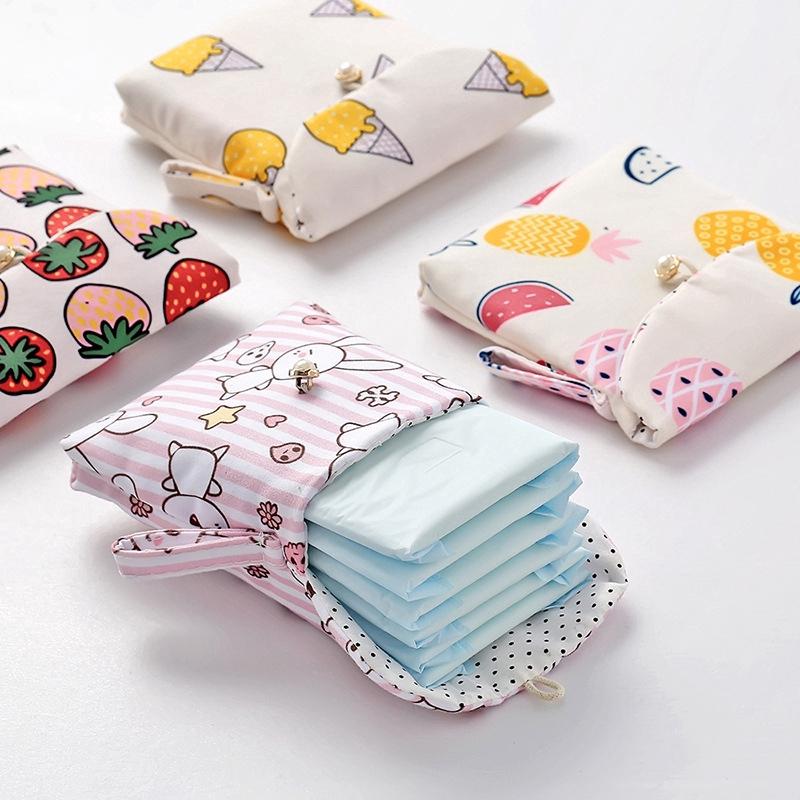 Túi nhỏ đựng băng vệ sinh cỡ ví tiền xinh xắn tiện dụng cho nữ