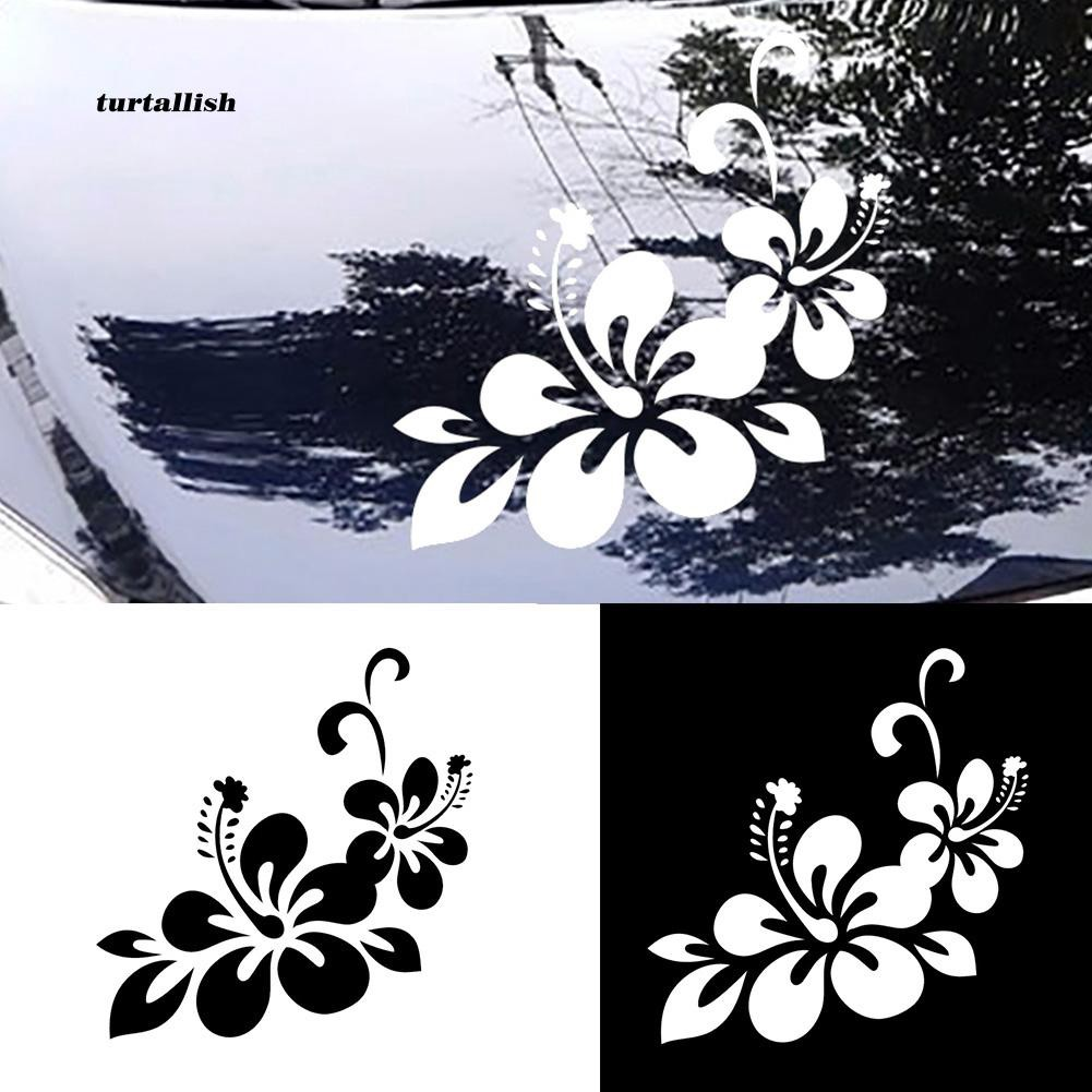 TUR♥Flower Floral Auto Decal Sticker Self-adhesive Car Body Window Decoration