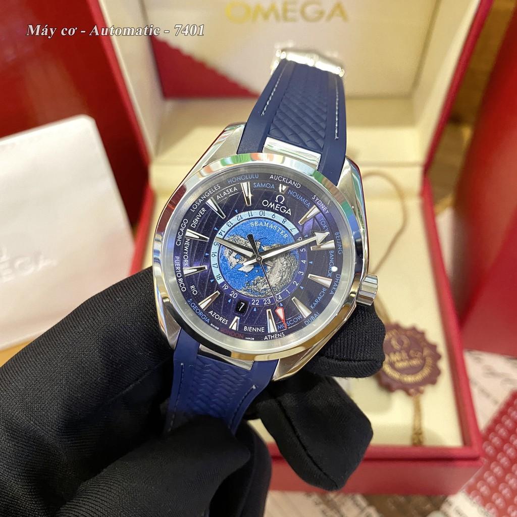 Đồng hồ nam OMG máy cơ cao cấp - Bản mặt địa cầu - Bảo hành 24 tháng chống nước autowatch
