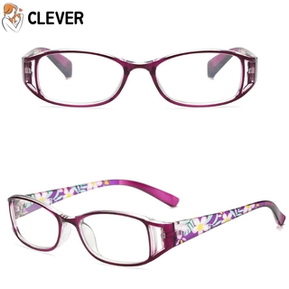 CLEVER Fashion Reading Glasses Elegant Ultra Light Frame Anti-Blue Light Eyeglasses Women Portable Flowers Comfortable Vintage Eye Protection/Multicolor