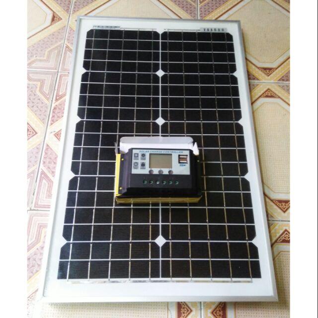 Combo tấm pin mặt trời 25w mono và bộ điều khiển sạc 10A có màn hình LCD - 3308385 , 1176001292 , 322_1176001292 , 990000 , Combo-tam-pin-mat-troi-25w-mono-va-bo-dieu-khien-sac-10A-co-man-hinh-LCD-322_1176001292 , shopee.vn , Combo tấm pin mặt trời 25w mono và bộ điều khiển sạc 10A có màn hình LCD