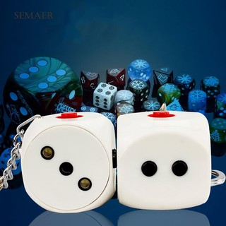 ★Sp Harmless Electric Shock Dice Halloween Party Joke Keychain Prank Trick Toy
