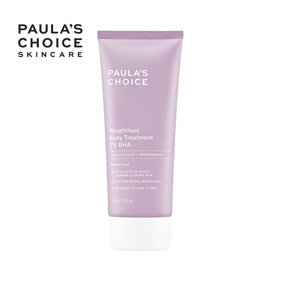 Kem dưỡng thể trị viêm lỗ chân lông chứa 2% BHA Paula's Choice Weightless Body Treatment 2% BHA 210ml 5700