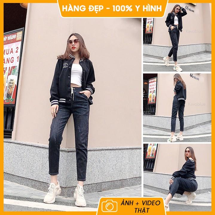 Quần bò nữ ❤️ 𝐇𝐚̀𝐧𝐠 𝐜𝐚𝐨 𝐜𝐚̂́𝐩 ❤️ Quần jean nữ dáng baggy, kéo dài chân, co giãn 4 chiều thoải mái, hot trend 2021