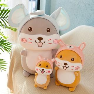 gấu bông dễ thương hình chuột hamster êm ái