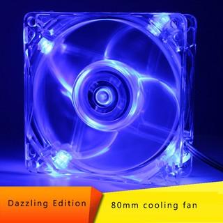 Quạt Tản Nhiệt Máy Tính Gắn Đèn Led 80mm 8025 8cm Dc 12v