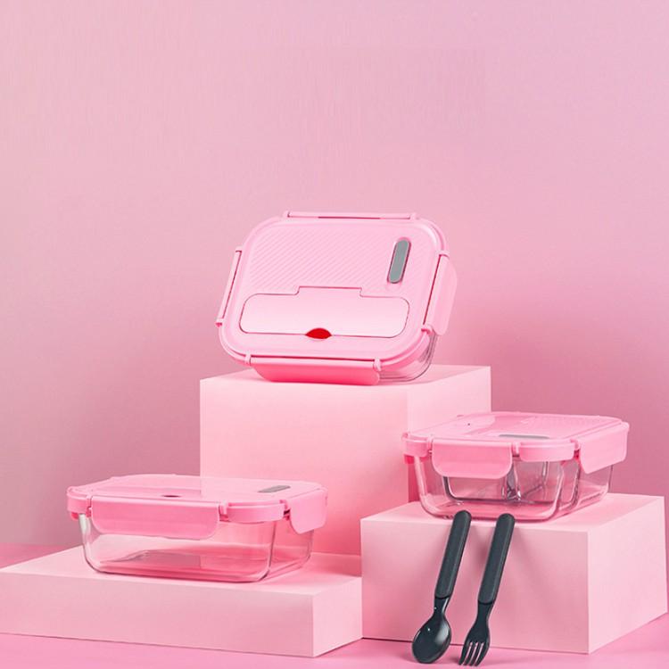 Bộ Hộp Cơm Thủy Tinh Cao Cấp Yeahcook Glass Lunch Box