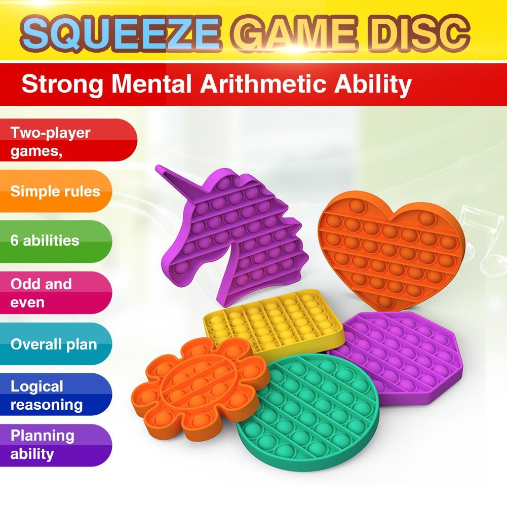 1xPop it fidget toy unicorn vuông sưu tầm Bubble Sensory Fidget Toy Lo âu Relief Toys
