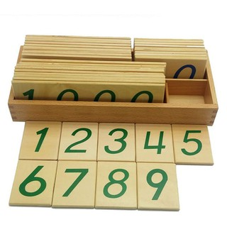 Bộ thẻ học số 1 đến 9000 cỡ lớn giáo cụ Montessori