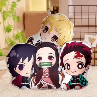 Anime Demon Slayer Q Version Tanjiro Shabudou Tomioka Doll Pillow Cute Graphic Printed Anime Pillow