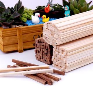 Làm mô hình tự làm thủ công bằng tay các bon tre hình vuông que tre que gỗ tre dải tre vật liệu xây mô hình thumbnail