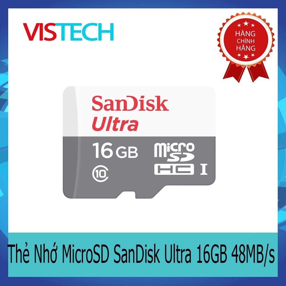 Thẻ Nhớ MicroSD SanDisk Ultra 16GB 80MB/s - 2954999 , 121022379 , 322_121022379 , 129000 , The-Nho-MicroSD-SanDisk-Ultra-16GB-80MB-s-322_121022379 , shopee.vn , Thẻ Nhớ MicroSD SanDisk Ultra 16GB 80MB/s
