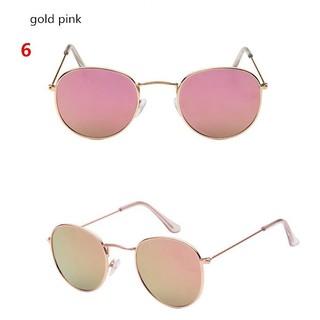Hot Sale Fashion Round Sunglasses Women Men Metal Frames Mirror Lenses