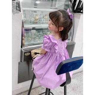 Váy tím bé gái (tặng kèm dây buộc tóc cùng màu) hot lắm nha