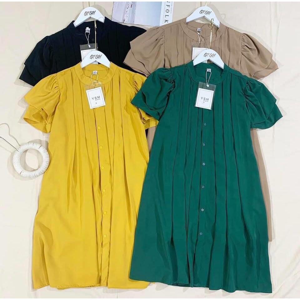 Mặc gì đẹp: Dễ chịu với VÁY BẦU SUÔNG DÁNG THỜI TRANG, Váy bầu xinh mặc sau sinh,cúc thật,Đầm bầu công sở VB20