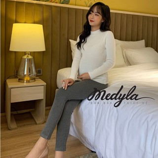 Quần bầu legging cotton co dãn - Quần legging bầu có chun điều chỉnh thiết kế Medyla - LG002 thumbnail