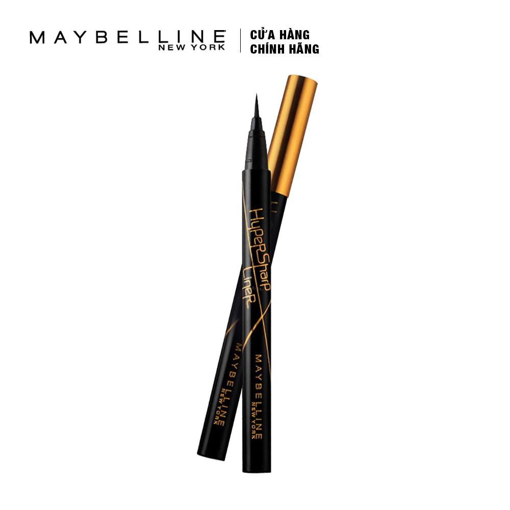 Bút Kẻ Mắt Nước Sắc Mảnh Maybelline Hyper Sharp Liner Đen 0.5g _ 6902395273257