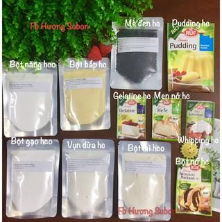 (Link mới)Bột hữu cơ làm bánh cho bé bột mì, bột bắp, bột năng, gelatin, pudding, bột nếp, bột nở, men nở, đường, bột thumbnail