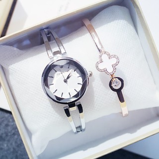 Đồng hồ nữ Candycat12 dây thép mặt tròn 3D