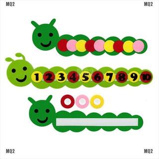 {MQ2}Cute math toys DIY weave cloth early learning education toys