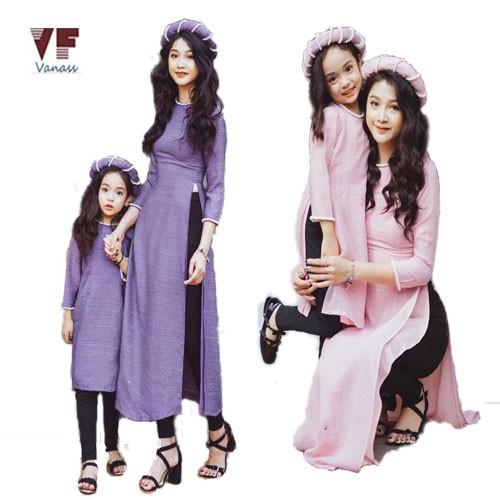 Set áo dài cách tân mẹ và bé VADD09 - 2818750 , 726185648 , 322_726185648 , 700000 , Set-ao-dai-cach-tan-me-va-be-VADD09-322_726185648 , shopee.vn , Set áo dài cách tân mẹ và bé VADD09
