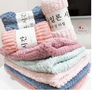 [LOẠI DẦY] 10 Khăn Mặt Lông Cừu Hàn Quốc Kháng Khuẩn 30 50 thumbnail