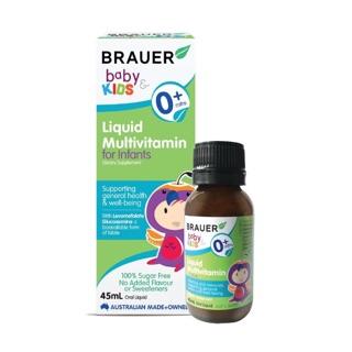 Siro Vitamin Tổng Hợp Brauer Liquid MultiVitamin 45ml cho trẻ sơ sinh