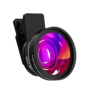 Tengye Faid 2in1 Lens 0.45X Wide Angle+12.5X Macro Lens Professional HD Phone Camera Lens Fad Fad