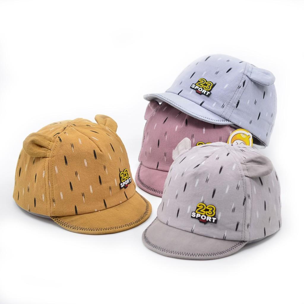 Mũ vải cotton tai thỏ cho bé trai bé gái (Nón vải, mũ nón cho bé sơ sinh) Mũ 23 sport TTS205