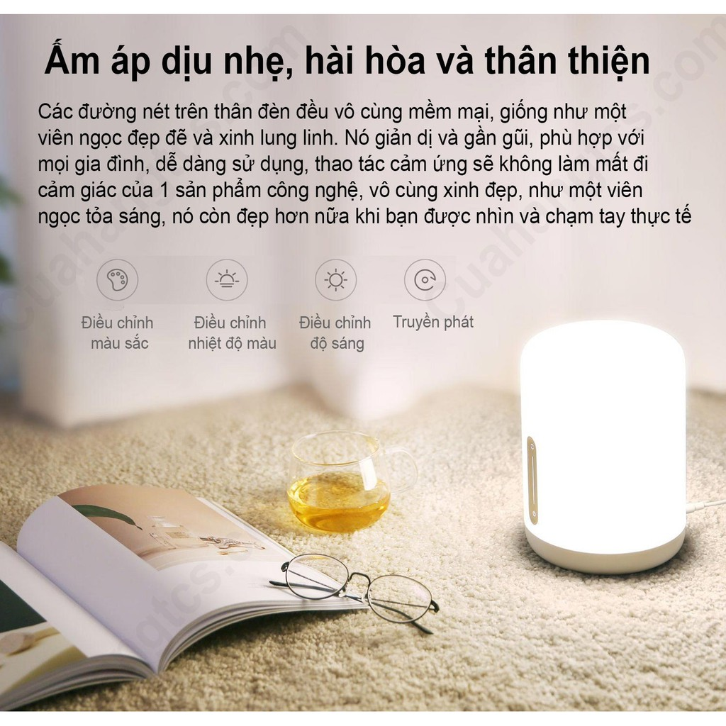 Đèn ngủ đầu giường Mijia 2 Đèn ngủ thông minh Xiaomi