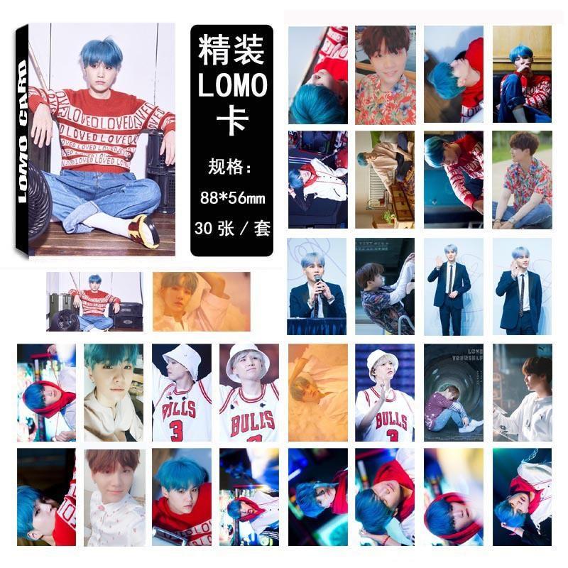Hộp 30 lomo BTS SUGA mẫu mới 2018 LM08 Love Yourself