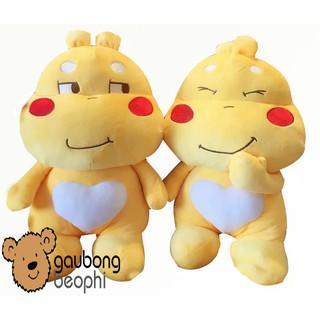 [HOT][CÓ SẴN] Combo 3 con gấu bông Sticker Qoobee thần thánh size 50cm , món quà đồ chơi tuyệt vời cho các bé- GBBP