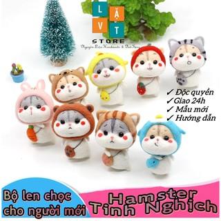 [Có hướng dẫn] Bộ len chọc Chuột Hamster Tinh Nghịch dành cho người bắt đầu có hướng dẫn - Needle Felting Hamster thumbnail