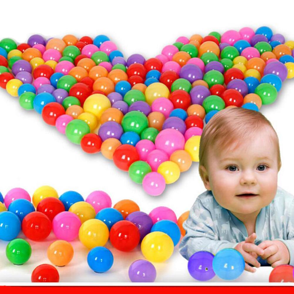 100pcs/lot Eco-Friendly Colorful Soft Plastic Water Pool Ocean Ball Baby Funny Toys Stress Air Outdoor Fun Sports