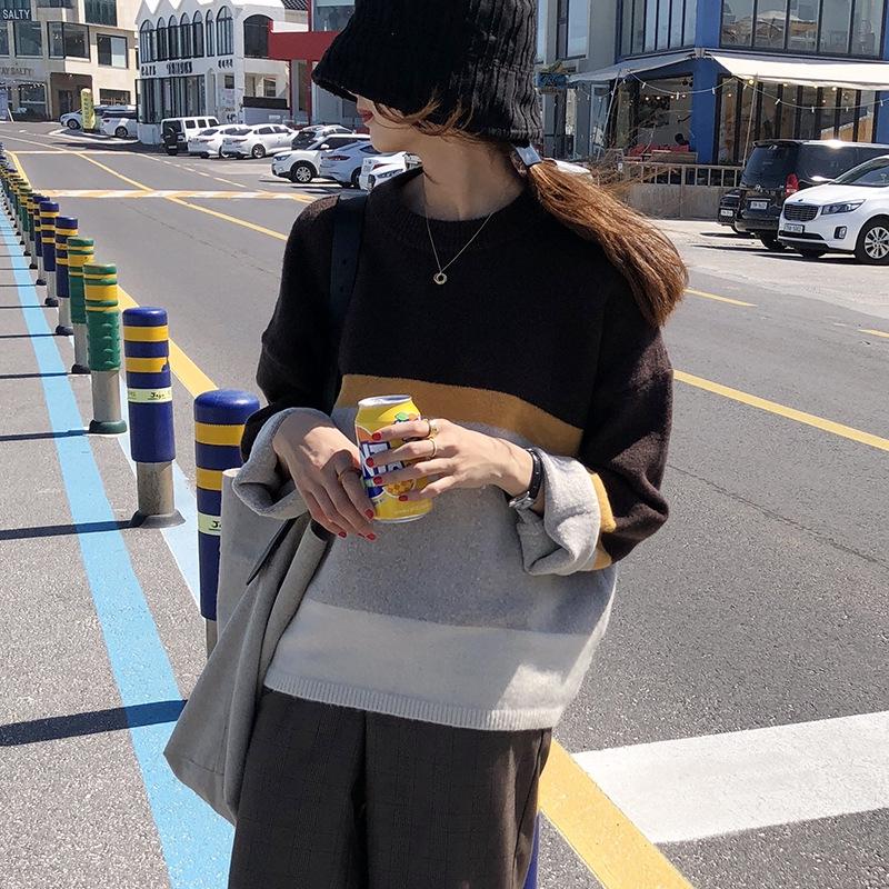 Áo Thun Sweater Phối Màu