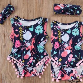 ✨QDA-Newborn Baby Girl Flower Jumpsuit Clothes