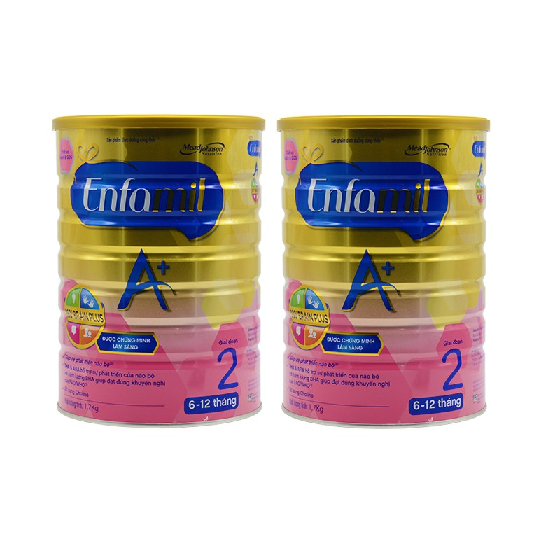 Bộ 2 hộp sữa bột Enfamil A+2 360° Brain Plus PDX& GOS 1.7kg (trẻ 6-12 tháng tuổi) - 2523085 , 58587940 , 322_58587940 , 1799000 , Bo-2-hop-sua-bot-Enfamil-A2-360-Brain-Plus-PDX-GOS-1.7kg-tre-6-12-thang-tuoi-322_58587940 , shopee.vn , Bộ 2 hộp sữa bột Enfamil A+2 360° Brain Plus PDX& GOS 1.7kg (trẻ 6-12 tháng tuổi)