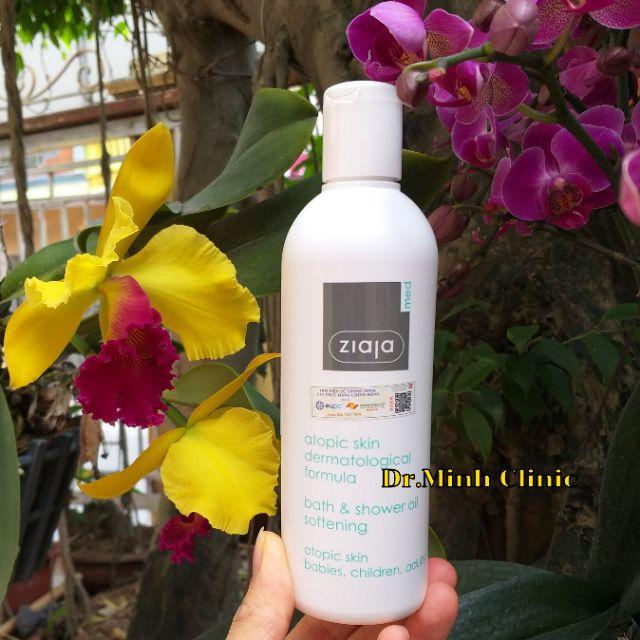 Dầu tắm Ziaja Med Atopic Skin làm mềm mịn da