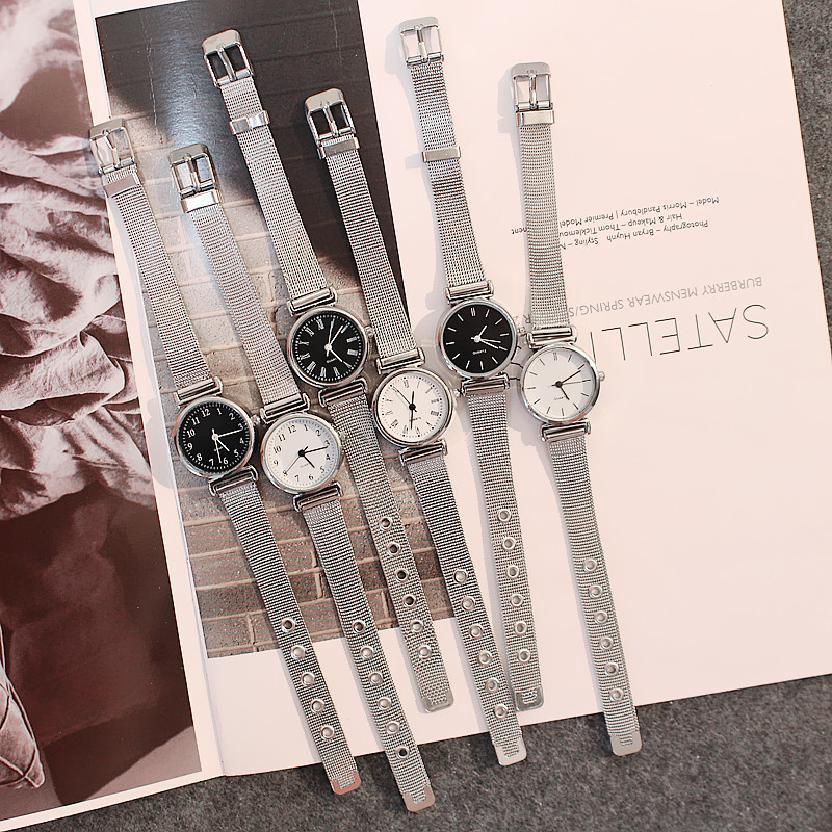 แฟชั่นย้อนยุคที่เรียบง่ายเกาหลีสาวนาฬิกาควอทซ์กันน้ำ 151